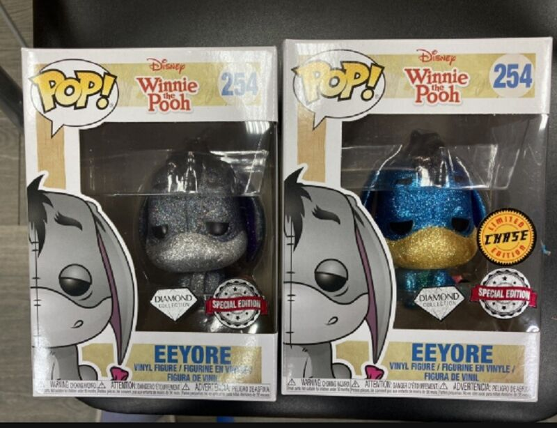 Funko Pop! 254 Eeyore Diamond Collection Hot Topic Exclusive Chase Blue & Grey
