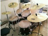 Meinl and Paiste cymbals