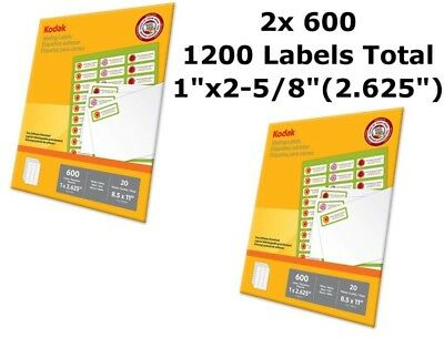 Kodak Shipping Address Mailing Labels Inkjet Laser 1 X 2 58 1200 Easy Peel