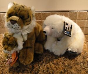 WWF Tiger with Cub and Polar Bear Plush  Collectable