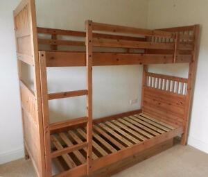 WOOD IKEA BUNK BED