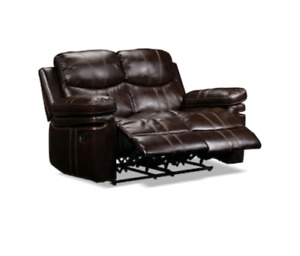 Reclining loveseat - leather