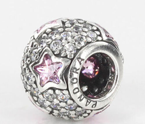 NEW Authentic Pandora Charms 791382PCZ The Stars Pink CZ Ste