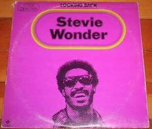 "Stevie Wonder ""Looking Back"" 3 record album Motown greatest hits"