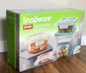 Snapware Pyrex Glass Set 8-pc