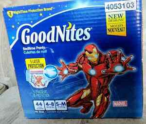 44count GoodNites Bedtime pants size S-M 4-8(38-65lbs)