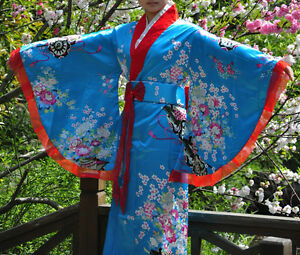 Retro Oriental Japanese Yukata Kimono Obi Cosplay Robe Geisha Dress Sleepwear