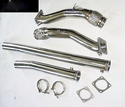 Downpipe 76mm Audi S4 RS4 A6 2,7l Bi-Turbo B5 Hosenrohr Sportauspuff Auspuff 3