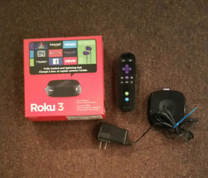 Roku 3 with the box. Great condition