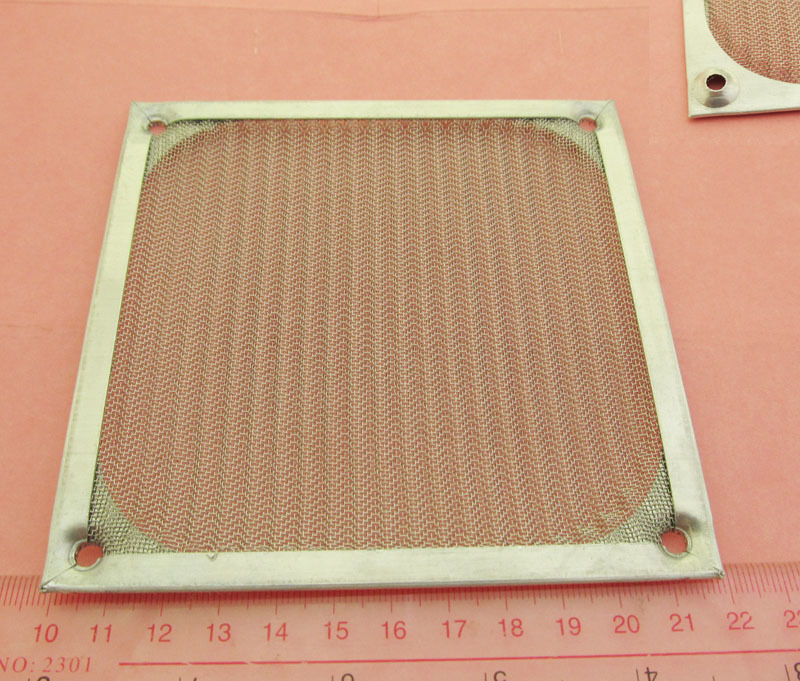 92mm Aluminum Dustproof Filter Dust Mesh Grill Guard PC Case Cooling Fan Black