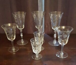 (10) Assorted Crystal Wine Glasses