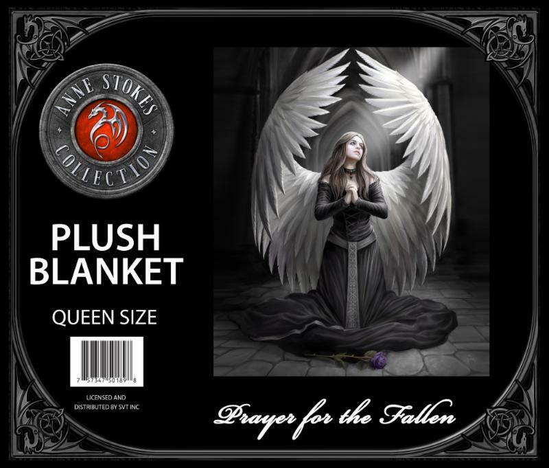 Anne Stokes Prayer for the Fallen Medium Weight Queen Blanke
