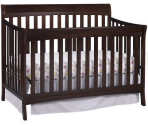 Used Storkcraft Avalon 4-in-1 Convertible Crib  colour (BROWN)