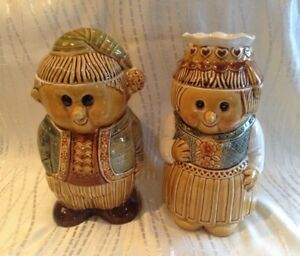 Vintage man and woman cookie jars from Japan - price is for both