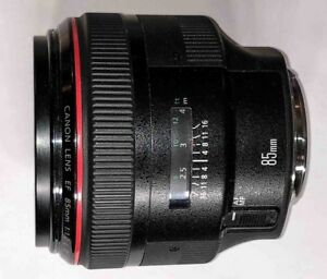 Canon EF85mm f1.2L II USM.  35mm f1.4 v1 also available