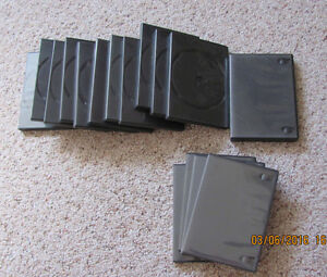 DVD CASES – 25 14mm DVD Cases.  Each holds 4 Disks  $15 for all