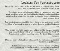 Looking for Writers and Artists - Online Literary Magazine