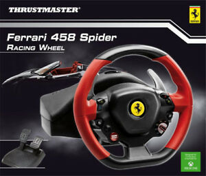 NEW THRUSTMASTER FERRARI 458 SPIDER RACING WHEEL XBOX ONE