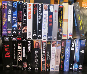 Assorted VHS Movies (English, Italian) 20 remaining (10 SOLD)