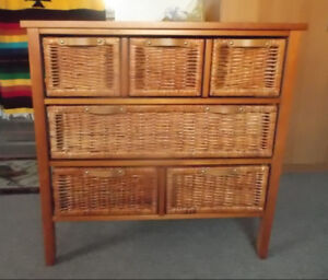 wood wicker-chest