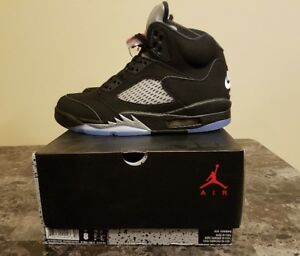 Nike Air Jordan V 5 Black Metallic Silver OG sz 8 DS NEW