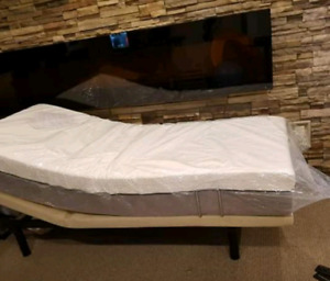 NEW Adjustable bed with mattress