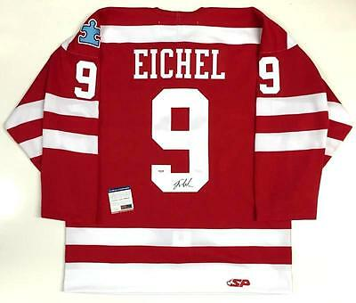 JACK EICHEL SIGNED BOSTON UNIVERSITY JERSEY  PSA/DNA ROOKIEGRAPH COA SABRES