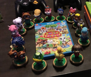 Animal Crossing Amiibo Festival + 15 amiibos + 3 amiibo cards