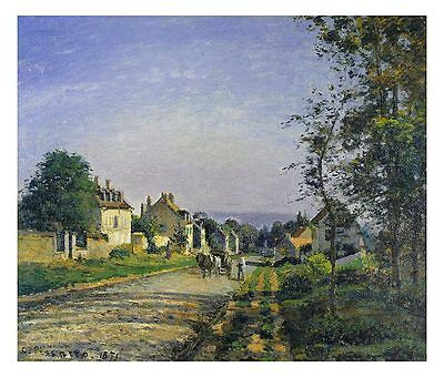 Camille Pissarro Landscape at Louvisiennes klein Poster Kunstdruck Bild 54x64cm