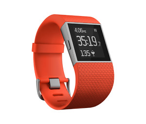 BRAND NEW SEALED FITBIT SURGE TANGERINE LARGE