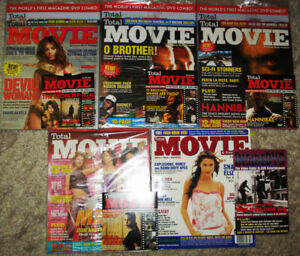 Total Movie Magazines # 1 to #5 date 2000/2001 with DVD's