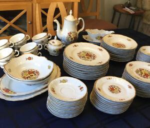 "Bernadotte ""Orion"" Dinner  fine bone china  set, 10 place sets"