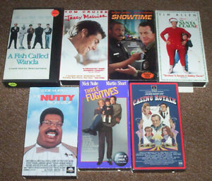 7 VHS(Video Cassette Tapes)COMEDY MOVIES