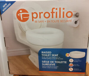 "Raised PROFILIO Toilet Seat""BE SAFE"" Good Cond. Reduced NOW $10."