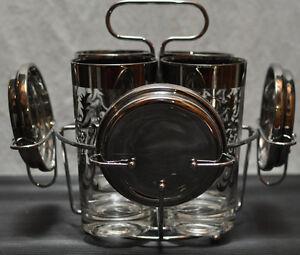 Decorative glasses with glass holder and coasters Kitchener / Waterloo Kitchener Area image 1