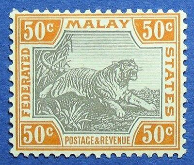 MALAYA 1906 FEDERATED MALAY STATES 50c SCOTT# 33e S.G.# 47c UNUSED CS04845