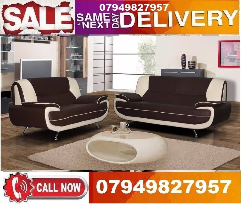 Italiaan 2 And 3 SEATTER Sofa available In Whiite/Blackin Enfield, LondonGumtree - Aavailable In Cream/Brown The chrome finish on the legs for that extrglamour very comfortable and will look high good In any home.DIMENSIONS 3 Seater W 192cm; H 85cm; D 90cm 2 Seater W 164cm; H 85cm; D 90cm Colours available Black/White, Brown/Red We...