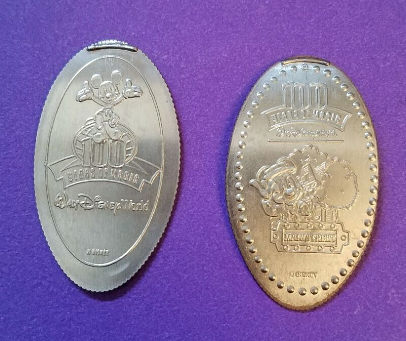 100 Years Of Magic Disney World pressed elongated quarters - Mickey Mouse