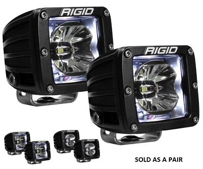 Rigid Industries D-Series Radiance Pods with White Back Light - Pair