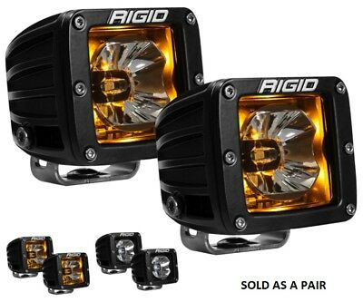 Rigid Industries D-Series Radiance Pods with Amber Back Light - Pair