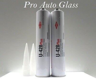 2 Dow U-428 Plus Windshield Urethane Primerless Adhesive Glue Sealant window