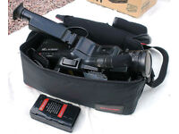 Panasonic & Sharp VHS-C Video Cameras And Editing Bundle