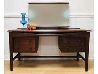 Mid century teak dressing table refurbished