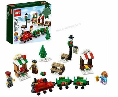 LEGO Christmas Train Ride, Hot Coca Holiday Store Park, Engineer Minifig 40262 +