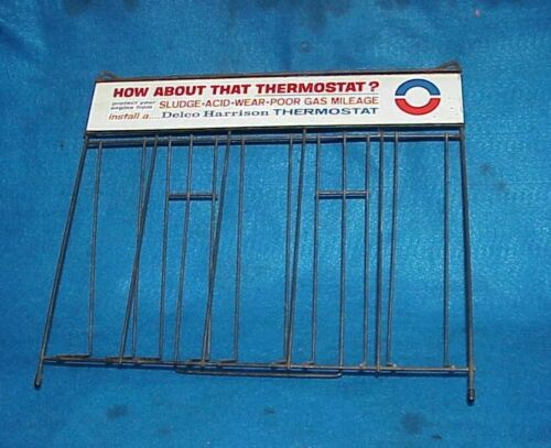 VINTAGE DELCO HARRISON THERMOSTAT DISPLAY RACK DISPENSER GAS STATION COUNTER TOP