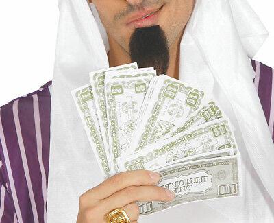 Falsch Papier Geld Dollar 100's$ £ Kostüm Rapper Monopoly Man Reich