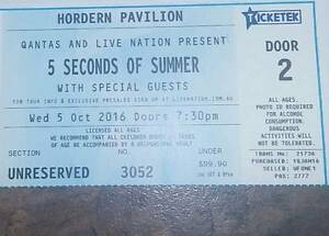 5 Seconds Of Summer ticket Georgetown Newcastle Area Preview