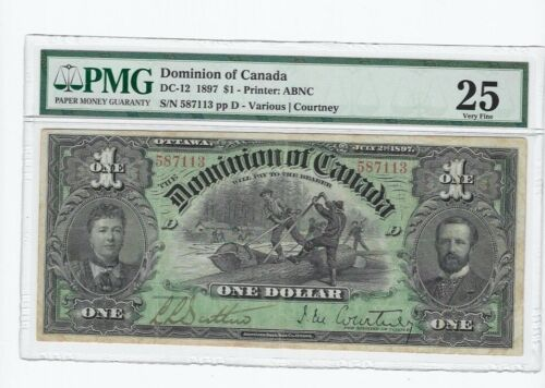 1897  Dominion of Canada DC-12   $1  SN# 587113  PMG  VF-25