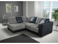 BRAND NEW BYRON JUMBO CORD CORNER /3+2 SOFA !!AVAILABLE IN DIFFERENT COLOURS**CALL 07424775152!!