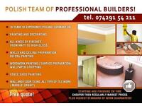 Polish team of painters and decorators!highest quality of job guaranteed!